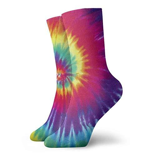 Tie Dye Halloween Acción de Gracias Regalo de Navidad Calcetines cortos de algodón para hombre y mujer, yoga, senderismo, ciclismo, correr, fútbol y deportes