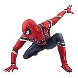 GJZhuan Iron Spiderman Disfraces de Lujo Disfraces Adultos Niños Jumpsuit 3D Impreso Lycra Spandex Body Bods Cumpleaños Presenta Ropa,Red-Adult/M(160~165CM)