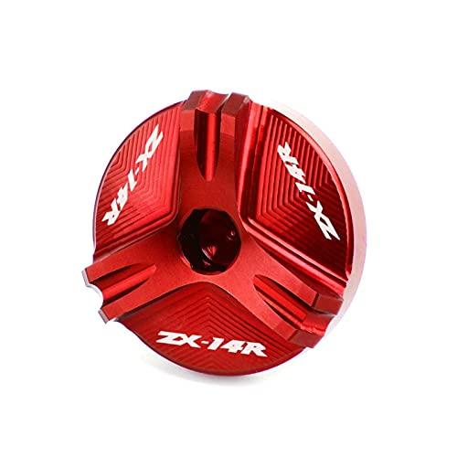 para La Serie KAW┐ASAKI Universal Motocicleta CNC Aluminio Motor Tapa De Llenado De Combustible Tapa De Aceite Tapas De Protección De Tuercas (Color : Rojo)