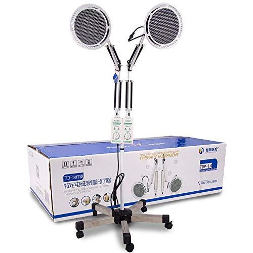 FTFTO Living Equipment TDP Lámpara de Calor Luz de Doble Cabezal Aparato de Terapia Mineral electromagnética física para aliviar el Dolor Cabeza Ajustable Tipo de pie en el Suelo 2x250W