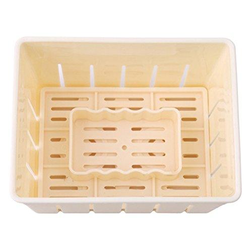 BESTonZON Tofu Maker Press Kit de moldes de plástico para Hacer Queso Tofu Molde DIY Herramienta de Cocina para Hornear (Amarillo)