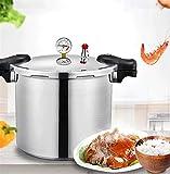 Cocina de presión de presión de aluminio Calibrador de presión de alta presión, Restaurante Escuela Cantina Desayuno...