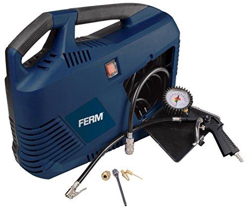FERM Draagbare Elektrische Compressor - 1100W - Max. 8 Bar - Olievrij - Met veel accessoires