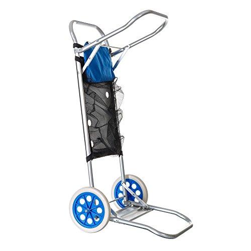 Carro portasillas Plegable de Camping y Playa Azul de Aluminio Nuevo y Mejorado - Sólo el distribuido por LOLAhome