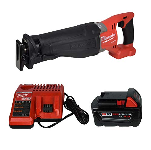 Milwaukee 2720-20 Reciprocating Saw,48-11-1850 5.0Ah Battery, 48-59-1812 Charger
