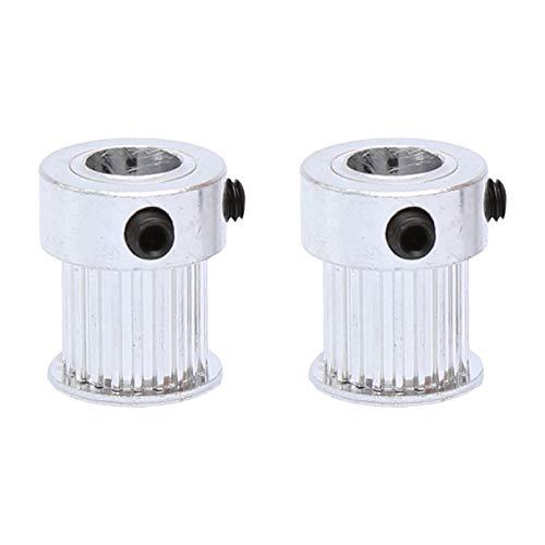 Shuxiang-Zahnriemenscheibe, 2 stücke Riemenscheibe MXL-20T BORE GRÖSSE 4/5/6 / 6,35/8 mm, Gürtelscheibenschlitzbreite 11mm, Übereinstimmung mit der Breite 10mm MXL-Zahnriemen for 3D-Drucker , Für 3D-D