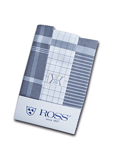 Ross - 3er Pack Halbleinen Geschirrtücher Exclusiv silber 50x70 cm