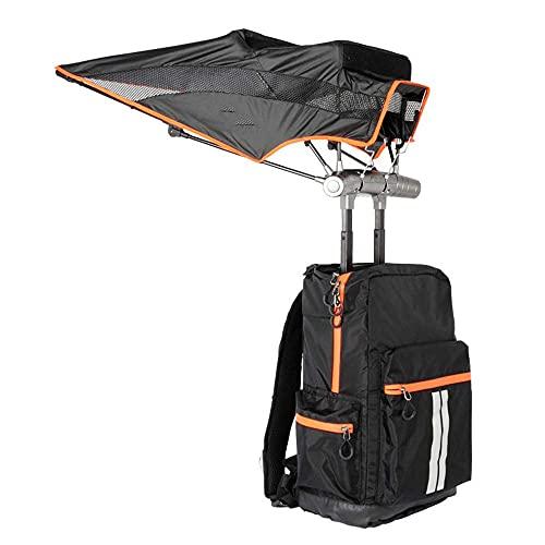 NHLBD LIJIANZI Worth having - Double Shoulder Backpack with Hands Free Retractable Umbrella, Hiking Touring Outdoor Event Daypack, UV Rain Protection Umbrella Sunshade