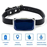 Dog GPS Tracker,Pet Tracker GPS Tracking Collar for Dogs and Cats,With Indicator GSM Signal,Remote Intercom Voice,Waterproof Adjustable Collar