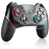 CHEREEKI Manette Switch, Manette pour Switch sans Fil avec Bluetooth/Gyro Axis Double Moteur Turbo