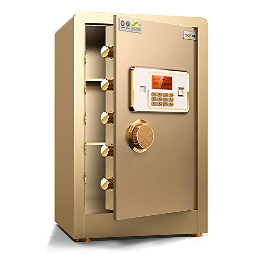 Pistol Veilig, brandvrije kluis en Waterproof Veilige Feet Password Safe 60CM Thuis Password Safe Small Alarm Safe Office Smart Anti-Theft Cabinet,Gold