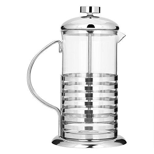 Coffee Press pot 600 ml/800ml filtro caffettiera French Press portatile palmare Hot Tea pot Press stantuffo in vetro vuoto, 800 ml