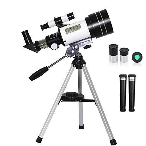 Telescopio para astronomía Starter Scope con trípode, observación de estrella para niños y aumento de alta definición 150X y calibre de 70 mm