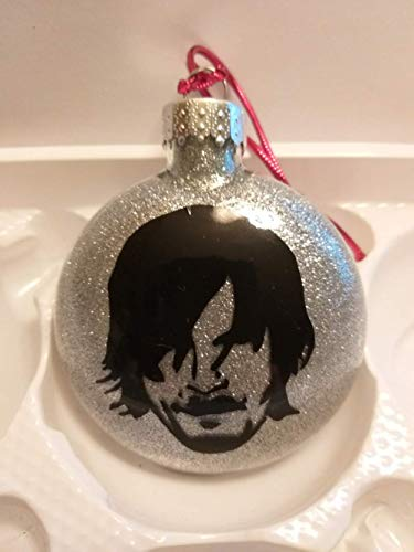 Daryl Dixon Walking Dead Zombie Silver Glitter Horror Holiday Ornament Shatterproof Disc