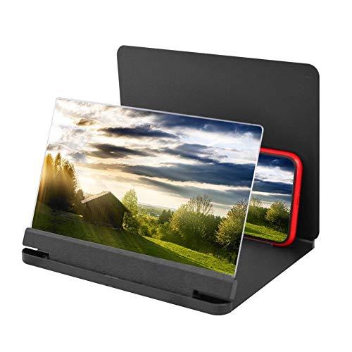 YASEking. 12inch 3D Phone Screen Magnifier Amplifier Klapp-Design HD Video Lupe beobachtet 3D-Filme Smart-Phone Halter Halter (Color : 9.8inch)