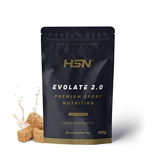 Aislado de Proteína de Suero de HSN Evolate 2.0 | Whey Protein Isolate | Proteína CFM + Enzimas Digestivas (Digezyme) + Ganar Masa Muscular | Vegetariana, Sin Gluten, Sin Soja, Turrón, 500g