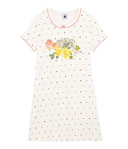 Petit Bateau 5429101 Camicia da Notte, Multicolore (Marshmallow/Multico Bfq), 3 Anni Bambina