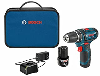 BOSCH Power Tools Drill Kit - PS31-2A - 12V, 3/8 Inch, Two Speed Driver, Cordless Drill Set - Includes Two Lithium Ion Batteries, 12V Charger, Screwdriver Bits & Soft Carrying Bag, Blue (B003BEE2LU) | Amazon price tracker / tracking, Amazon price history charts, Amazon price watches, Amazon price drop alerts