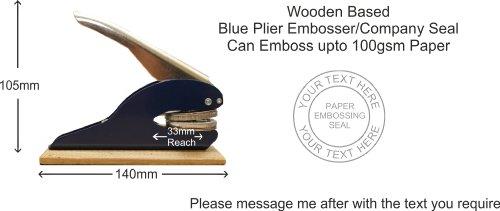 Company Dichtung Holz basierend 38mm Papier Prägemaschine, Firma oder persönlichen Namen