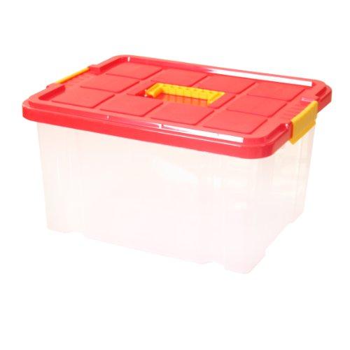 Ribelli Unibox mit Deckel 27 Liter Stapelbox Aufbewahrung Kiste Box Aufbewahrungsbox