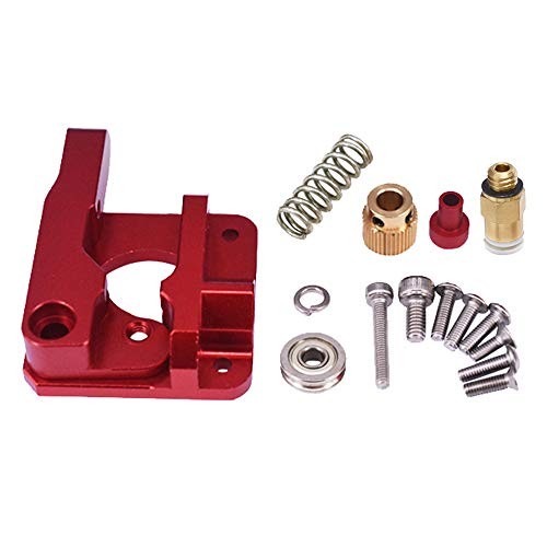 Upgrade Replacement MK8 Extruder Aluminium Alloy Block Bowden Extruder 1.75 mm Filament for Ender 3, Ender 3 Pro, Ender 3X, CR-10, CR-10S, CR-10S4 and CR-10S5