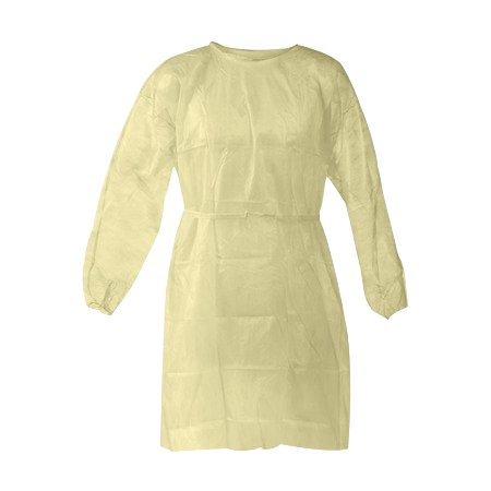 Disposable Isolation Gown Size: Universal Qty: 50 per Case (Yellow)