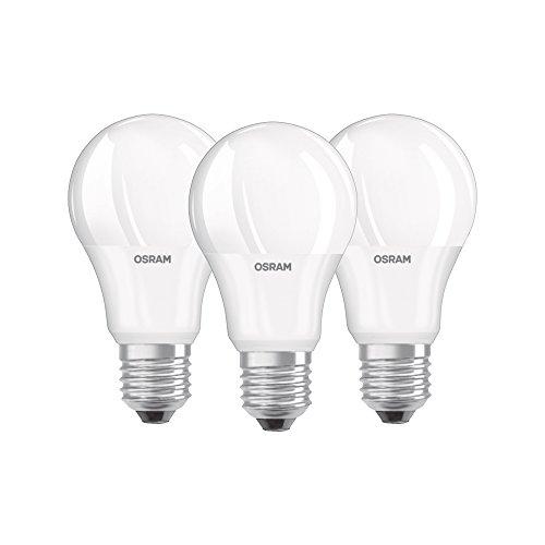 Osram Lampadine LED Goccia, 8.5W Equivalenti 60W, Attacco E27, Luce Calda 2700K, Confezione da 3