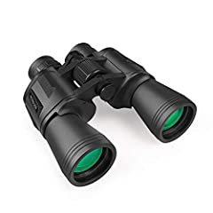 [Wide Field of View]- 20x magnification, 23mm eye lens diameter and 50mm objective diameter; 56m field of view at 1000m; When you use this binoculars, the vision is broad and it is very clear for the gain of binoculars. [Professional Powerful Binocul...