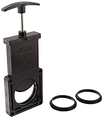 "Valterra 7200PB ABS Gate Valve, Black, 2"" Valve Body w/Seals & Hardware, Polybagged from Valterra Products"