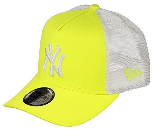New Era New York Yankees MLB Cap Trucker New Era Baseball Damen Verstellbar Neon Gelb - One-Size