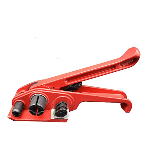 VOTOER Poly Strapping Tensioner Cutter Manual Banding Tool for Width 1/2' -3/4' Polyproplyn and Polyester Plasticstrap Cord Strapping Packing Kit, Windlass, Red