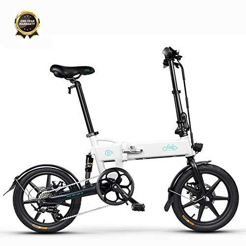 Bicicletta Elettrica Pieghevole FIIDO D2S,Motore 250w,Pneumatici da 16 Pollici,Servoassistenza Elettrica a 3 velocità,Sistema di Trasmissione a 6 velocità,Batteria da 7.8Ah,con Ammortizzatore
