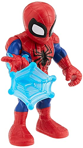 Super Hero Adventures Playskool Heroes Marvel Collectible 5-Inch Spider-Man Action Figure with Web Accessory, Toys for Kids Ages 3 and Up
