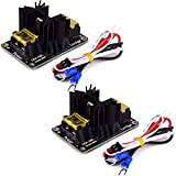 HiLetgo 2pcs 3D Printer 30A Big Current Mos Tube Heat Bed Power Module Heat Bed Expansion Board High Current Load Mos Tube for 3D Printer with Cables