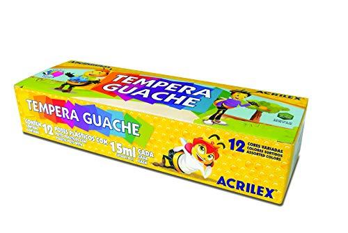 Tempera Guache 15ml 12 Cores, Acrilex, 020120000, Multicor