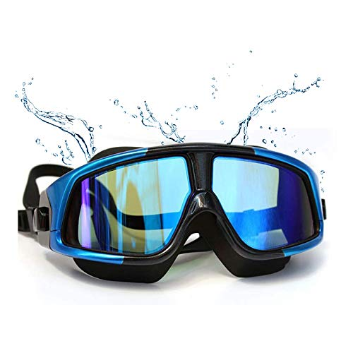 New Upgrade Swimming Goggles,Nearsighted Swim Goggles Anti Fog UV Protection No Leaking for Adult Men Women Kids Waterproof Wide Frame Prescription Swim Goggles With Nose Clip Ear Plugs(-3)