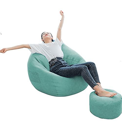 RTMX&kk Sitzsack Sofa Stuhlbezug Bean Bag Covers Stofftier-Aufbewahrung Indoor Bodenkissen Chair Sitzsäcke Möbel Kissen Sessel Ohne Füllung,Mint Green,XXL