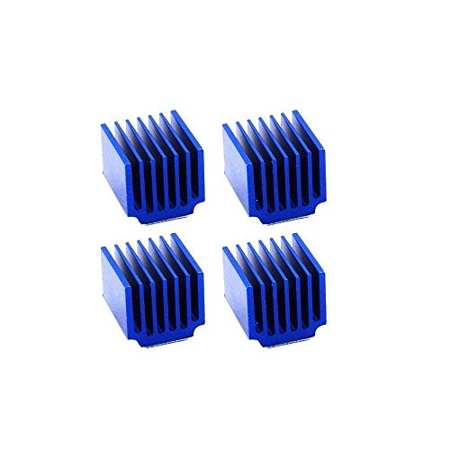 Printer Accessories 4pcs Blue Heatsinks Cooler Aluminum 15 * 14 * 13mm with Adhesive for Cooling Raspberry Pi 3/2 Model B LV8729/TMC2100 3D Printer Parts