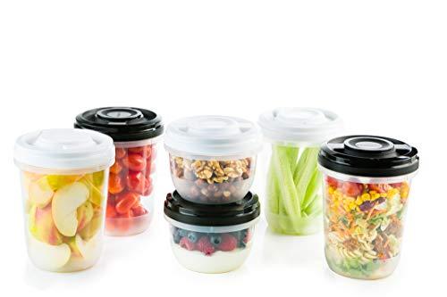 2friends 6 Frischhaltedosen mit Schraubdeckel, z.B. für Meal Prep, stapelbar, gefriergeeignet, mikrowellengeeignet, BPA-freier Kunststoff, geprüfte Qualität!