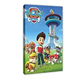 PAW Patrol Poster Canvas Poster Wall Art Decor Print Picture Paintings for Living Room Bedroom Decoration Frame-style112×18inch(30×45cm)