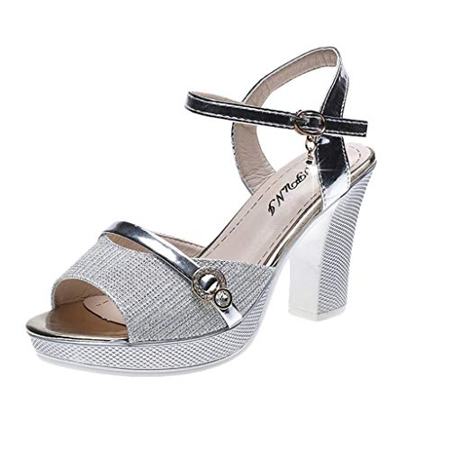 Vectry Zapatos Stilettos Mujer Sandalias Mustang Mujer Chanclas Crocs Mujer Zapatos Tacon Ancho Mujer Zapatos Mujer Plano Zapato De Verano Mujer Zapato Mujer Casual Plateado