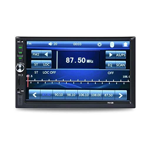 WXJWPZ 2 DIN Car Radio 7 'HD Autoradio Multimedia Player 2DIN Pantalla táctil Auto Audio Car Stereo MP5 Bluetooth USB TF FM Camera