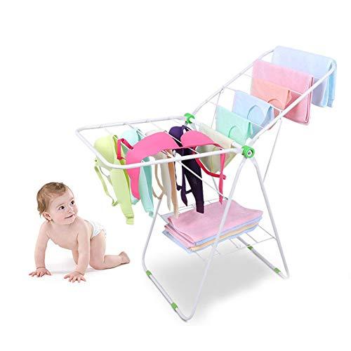 Edelstahl Windelträger Wäscheständer Boden Edelstahl Balkon Erker Baby Indoor-Outdoor-Wäscheständer-Klapp