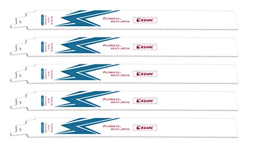 EZARC Hojas de sierra sable Bimetálica Cobalt R1226PM+ 300mm 14TPI puede Cortar Metal Pesado - 5 piezas