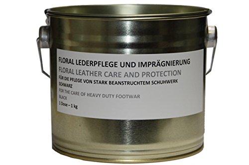 Floral Original Bundeswehr Schuhcreme Farbe: schwarz 1 kg im Blecheimer Lederpflege Bw Inhalt pro Dose 1,135 Liter Marke: Floral