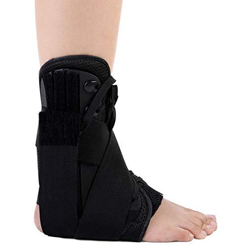 YOYI Tobillera Órtesis de tobillo, soporte de esguince de tobillo ajustable,transpirable,órtesis de compresión para artritis, lesiones deportivas en hombres y mujeres,facilitar recuperación (M