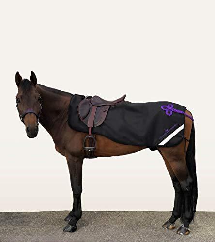 Alexandra Ledermann Sportswear Couvre-Reins Cheval Imperméable avec Doublure Polaire Noir et Violet