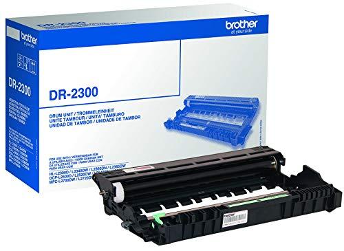 Brother DR2300 Tamburo Originale per Stampanti DCPL2500D, DCPL2540DN, HLL2300D, HLL2340DW, HLL2360DN, HLL2365DW, MFCL2700DW, MFCL2720DW, MFCL2740DW, MFCL2700DN, fino a 12000 Pagine, Non Contiene Toner