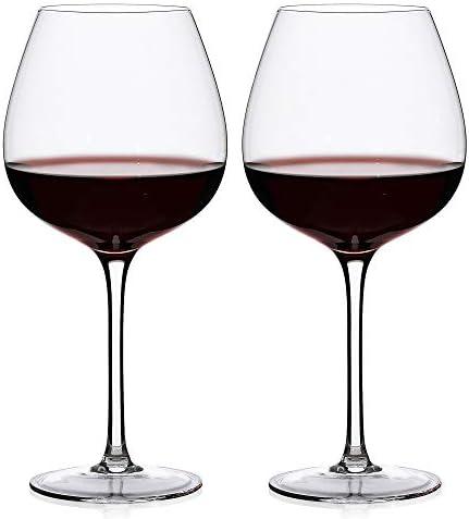 LUXU Wine Glasses set of 2 Lead free Crystal Wine Glasses 23oz Premium Wine glasses For Pinot product image