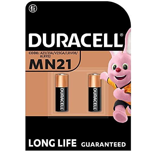 Duracell - Pilas especiales alcalinas MN21 de 12 V, paquete de 2 unidades (A23 / 23A / V23GA / LRV08 / 8LR932) diseñadas para su uso en mandos a distancia, timbres inalámbricos y sistemas de segurid